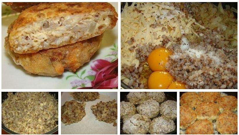 Гречневые котлеты с сыром рецепт пошагово