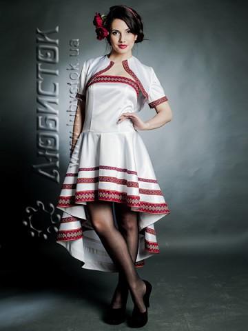 Весільний вишитий костюм (вишита сукня та болеро ЖК 67-44) b5511402f6006