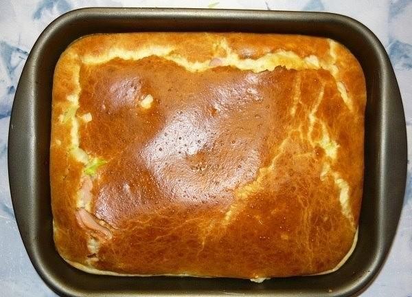Наливной пирог с капустой на майонезе рецепт