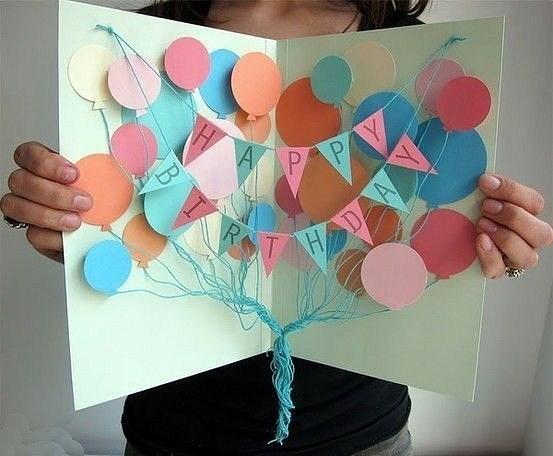 Как сделать красивую открытку на день рождения маме своими руками