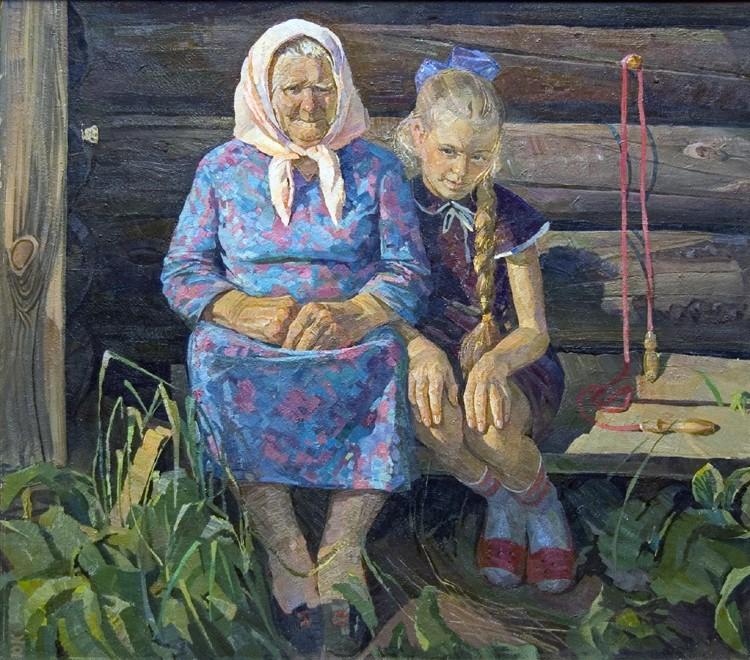 с расказ первий бабушка ночь