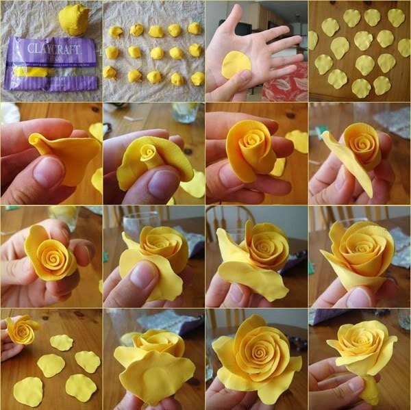 Розы из мастики как сделать