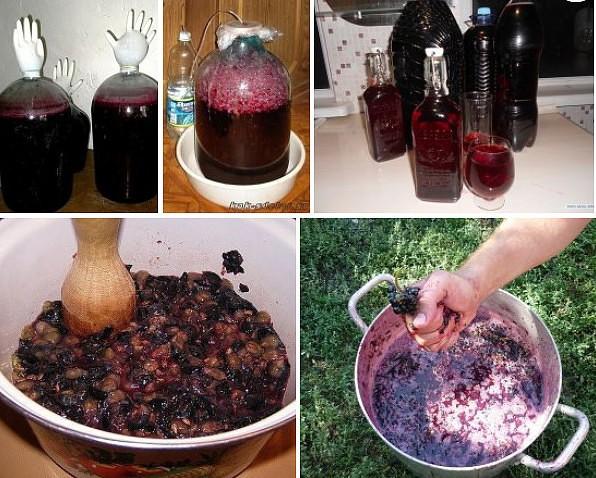 Приготовленный сироп вливаем в виноградный сок, емкость закрываем пробкой с водяным затвором, оставляем для брожения на дней.