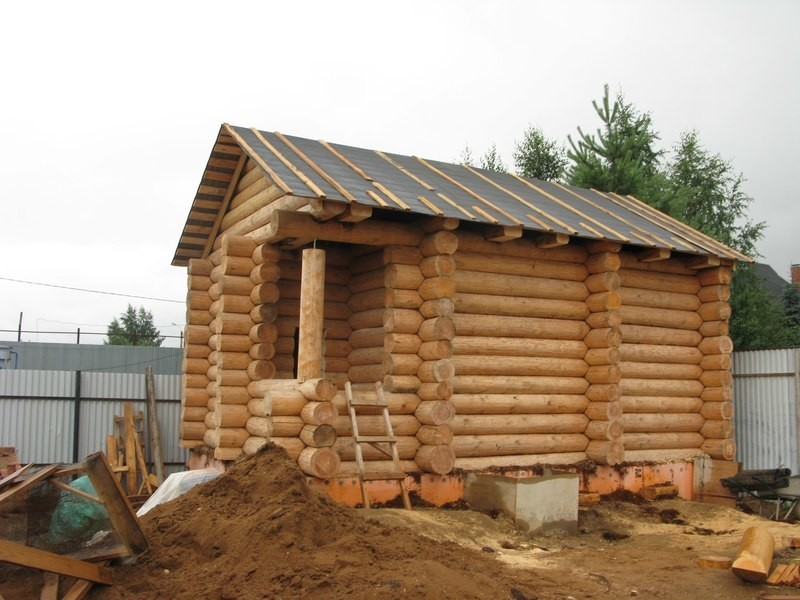 Строительство бани из бревна пошаговая инструкция фото