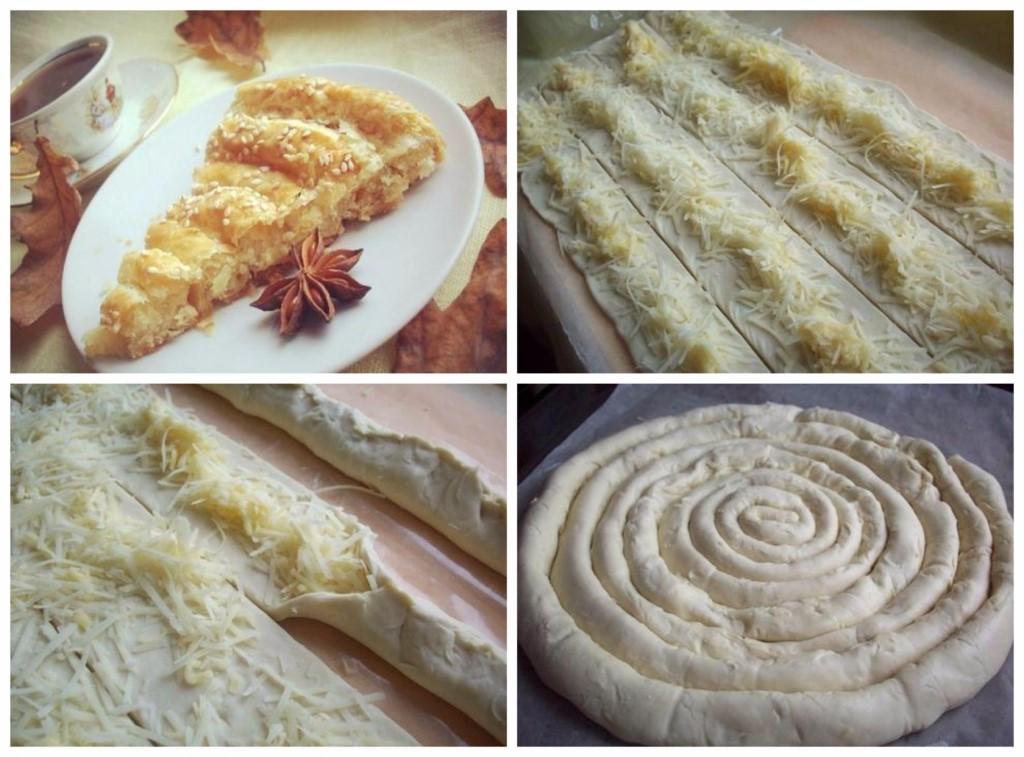 В дании пользуется популярностью яблочный пирог из слоёного теста.