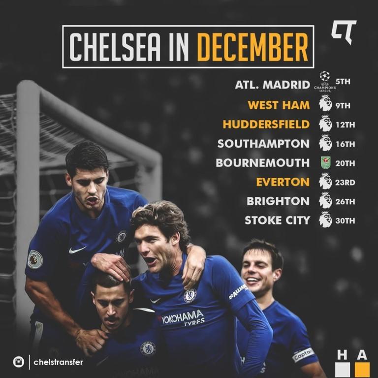 расписание матчей челси 2016-2018