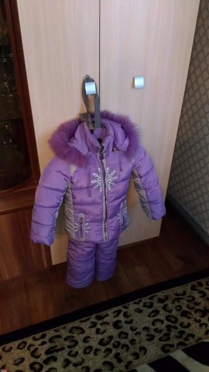 Зимний костюм на девочку.