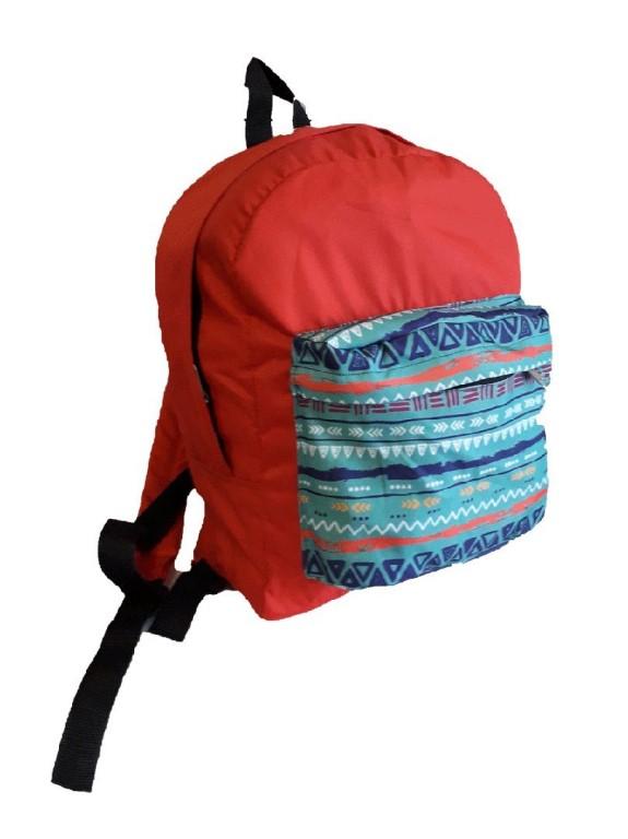 Код 628 рюкзак 23.5 орнамент красный 40