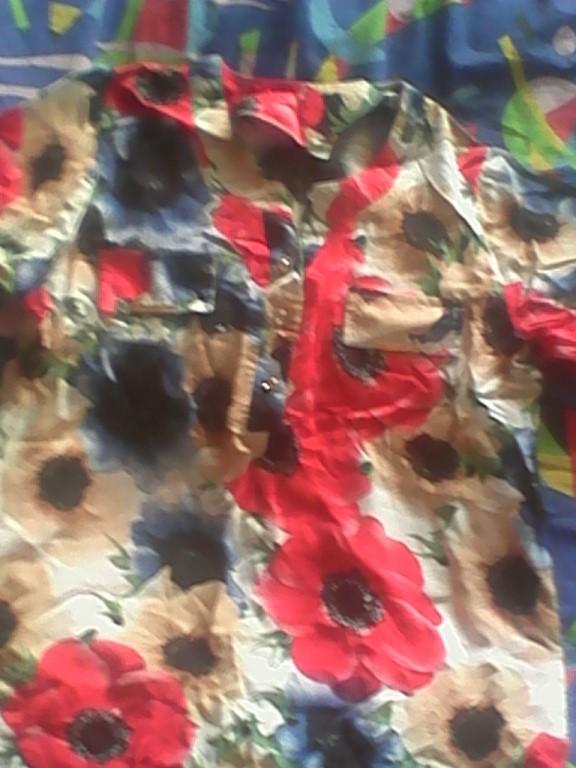 Продам за символическую цену брюки для беременных 42 размер всовчем новые с ценником и блузку 50 размера с ярким цветочным принтом одета была один раз!!За все 300 рублей!!!Тел.89521636594 пишите ватцап или звоните!!!Очень срочно!!!Извиняюсь за качество плохая камера!!
