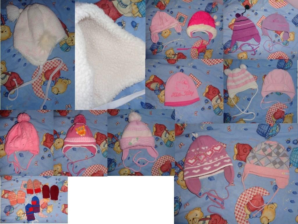 шапки с рождения до 3 лет