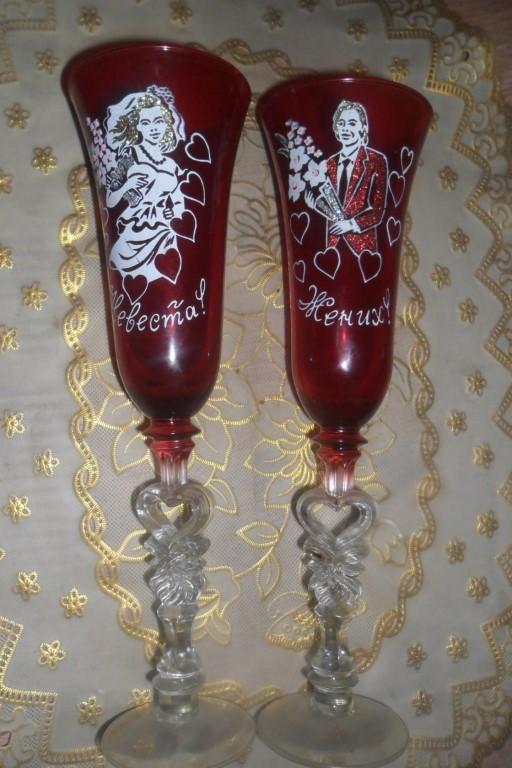 Продам свадебные бокалы 800руб в л/с