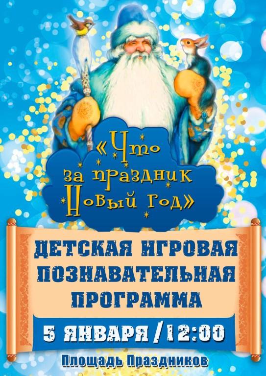 Детская игровая познавательная программа «Что за праздник Новый год».